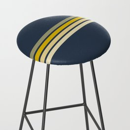 Racing Retro Stripes Bar Stool