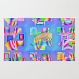 Abstract lighteffects -22- Fantasy on ice Rug