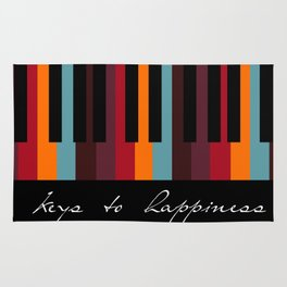 keys to happiness Rug
