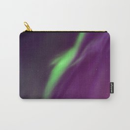 Beautiful northern lights in the sky. Aurora borealis, Kiruna, Sweden. Carry-All Pouch