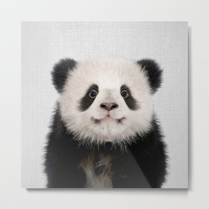 Panda Bear - Colorful Metal Print