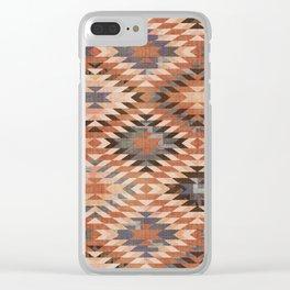 Arizona Southwestern Tribal Print Clear iPhone Case
