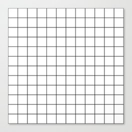 Grid Simple Line White Minimalistic Canvas Print