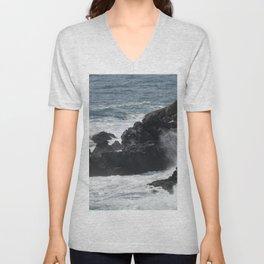 Waves Crashing on the Coast Unisex V-Neck