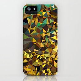 Goldish triangulated abstraction iPhone Case