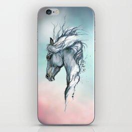 Aqua horse iPhone Skin