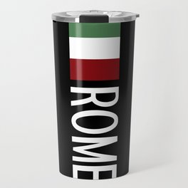 Italy: Italian Flag & Rome Travel Mug