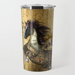 Awesome steampunk horse Travel Mug