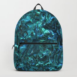 Abalone Shell | Paua Shell | Cyan Blue Tint Backpack