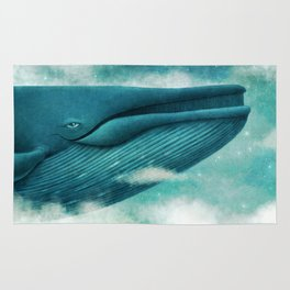 Dream of The Blue Whale Rug