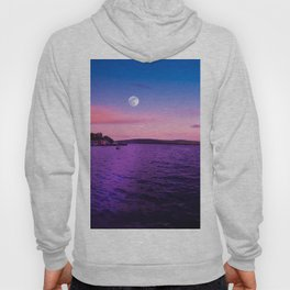 Full Moon at Sunset Over the Isle of Mull Hoody