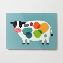 Awesome Cow Metal Print