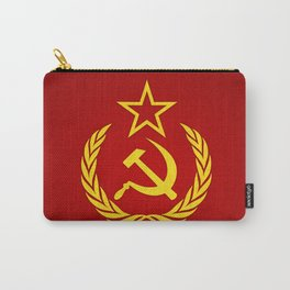 Hammer and Sickle Textured Flag Carry-All Pouch