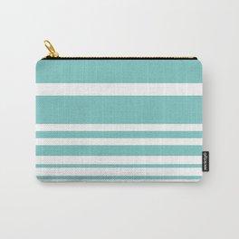 Scandi Pastel Mint Stripes Carry-All Pouch