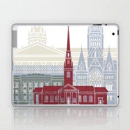Harvard skyline poster Laptop & iPad Skin