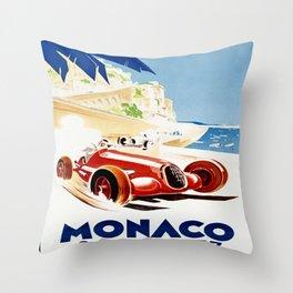 Monaco 1937 Grand Prix Throw Pillow