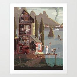 Scene #15: 'The fisherman's daughter' Art Print