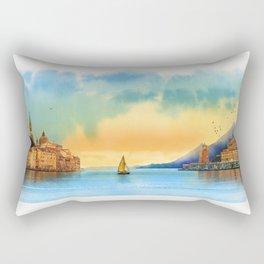 Italian landscape Rectangular Pillow