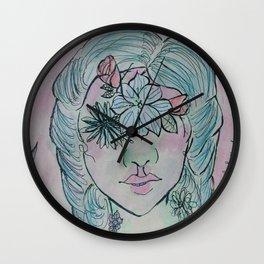 Flowered Wall Clock