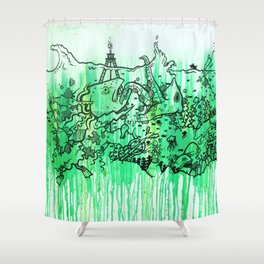 BATTLE ROYALE UNDERWATER Shower Curtain