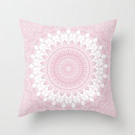 Boho Pink Mandala Throw Pillow