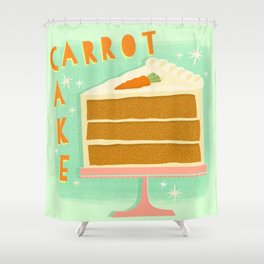 All American Classic Carrot Cake Shower Curtain