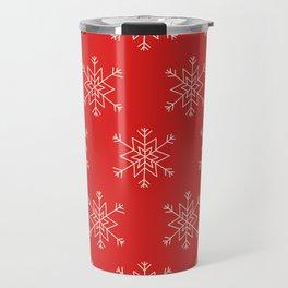 Seamless pattern with snowflakes Travel Mug