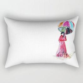 Ame O Ukeireru ( Embracing Rain ) Rectangular Pillow