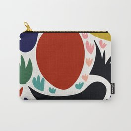 Birds in the sun minimal art abstract pattern decorative Carry-All Pouch