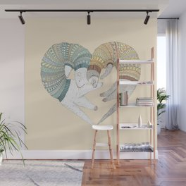 Ferret Sleep Love Wall Mural