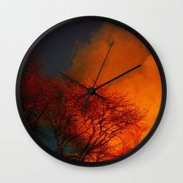 Violent Autumn #2 Wall Clock