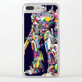 Transformer in pop art Clear iPhone Case