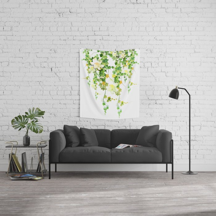Watercolor Ivy Wall Tapestry