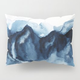 Abstract Indigo Mountains Pillow Sham