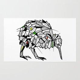 Kiwi Bird Geometric Rug