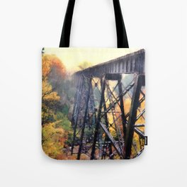 Upper Peninsula Train Trestle Tote Bag