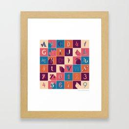 36 Days Of Type Framed Art Print