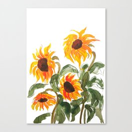sunflower watewrcolor 2018 Canvas Print