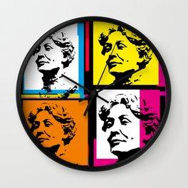 EMMELINE PANKHURST (4-UP POP ART COLLAGE) Wall Clock