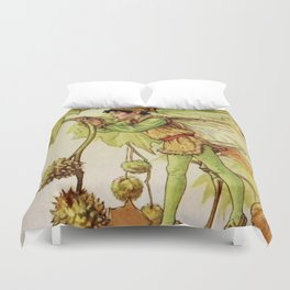 """""""The Plane Tree Fairy"""" by Cicely Mary Barker Duvet Cover"""