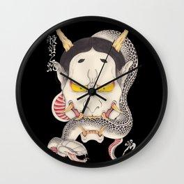 hannya and snake Wall Clock