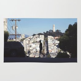 Silhouette from Near Lombard Looking Toward Coit Tower, San Francisco Rug