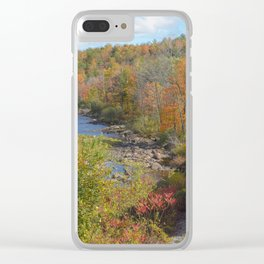 Adirondack Mountain Scenery Clear iPhone Case