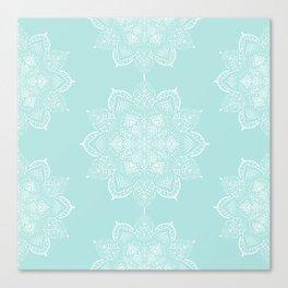 Winter Spirit Mint Canvas Print