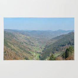 French view in the valley Rug