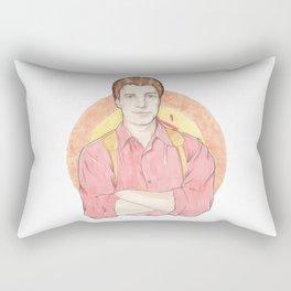 Malcolm 'Mal' Reynolds of Firefly Watercolor Portrait Illustration Rectangular Pillow