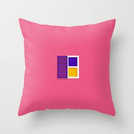 Unshuttered Window Throw Pillow