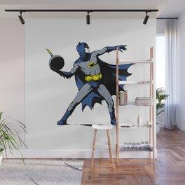 Bat Throwing Bomb Wall Mural