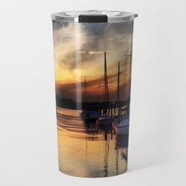 Sunset on the Marina Travel Mug
