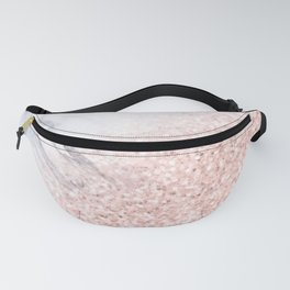 She Sparkles Rose Gold Pink Marble Luxe Geometric Fanny Pack